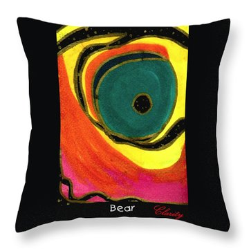 Throw Pillow featuring the painting Bear by Clarity Artists