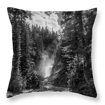 Bear Creek Falls As Well Throw Pillow