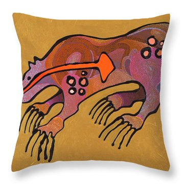 Throw Pillow featuring the painting Bear Deity by Bob Coonts