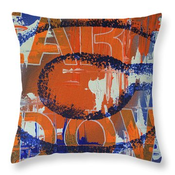 Bear Down Throw Pillow