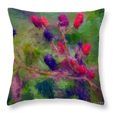 Bear Fodder Throw Pillow by David Lane