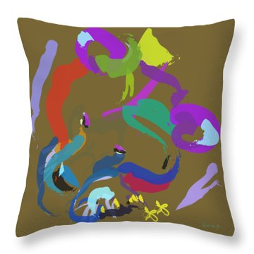 Throw Pillow featuring the painting Bear  by Go Van Kampen