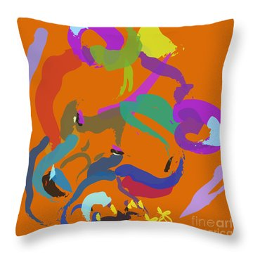 Bear  Throw Pillow by Go Van Kampen