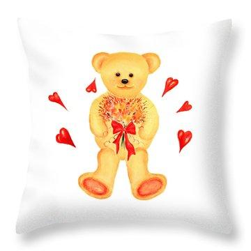 Bear In Love Throw Pillow