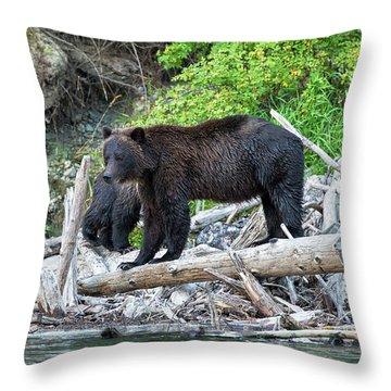 In The Great Bear Rainforest Throw Pillow