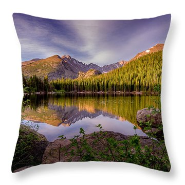 Bear Lake 2 Throw Pillow