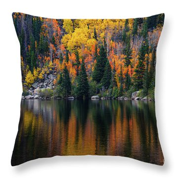 Bear Lake Autumn Reflections Throw Pillow