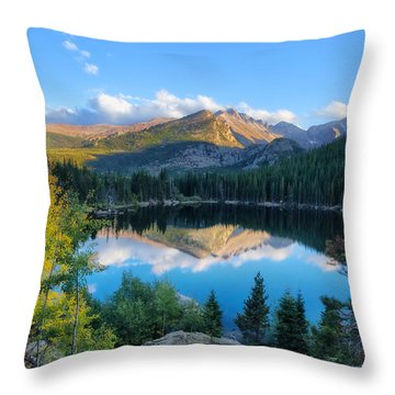 Bear Lake Reflection Throw Pillow