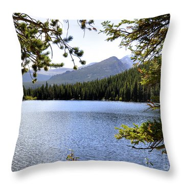 Throw Pillow featuring the photograph Bear Lake Rmnp by Nava Thompson