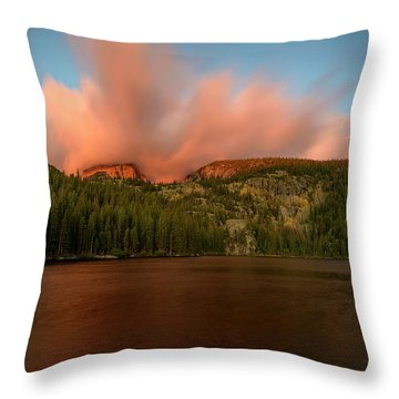 Bear Lake's Hallett Peak #1 Throw Pillow
