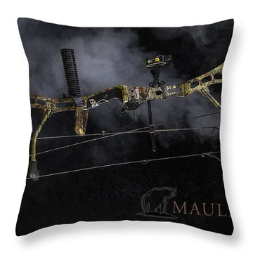 Bear Mauler Throw Pillow