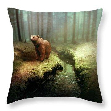 Bear Mountain Fantasy Throw Pillow