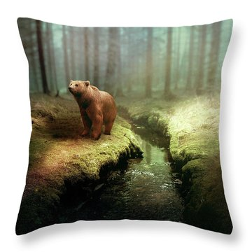 Bear Mountain Fantasy Throw Pillow