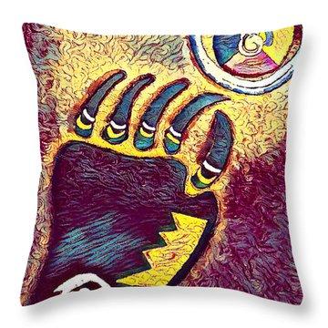 Bear Paw Print 3  Throw Pillow