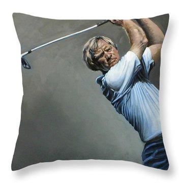 Bear Print Throw Pillow by Mark Robinson