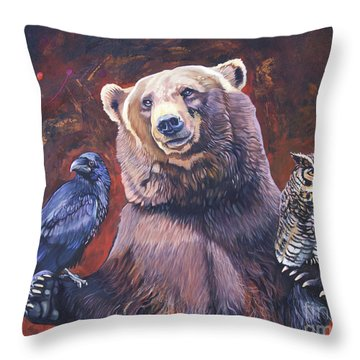 Bear The Arbitrator Throw Pillow