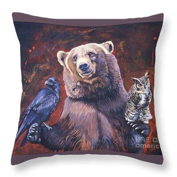 Bear The Arbitrator Throw Pillow