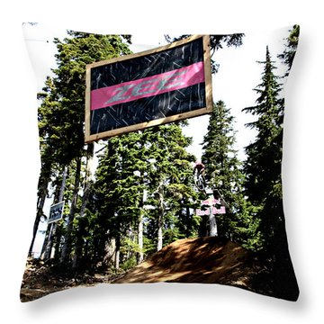 Bearclaw Sponsorship Throw Pillow