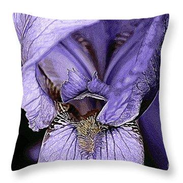 Bearded Iris 1 Throw Pillow