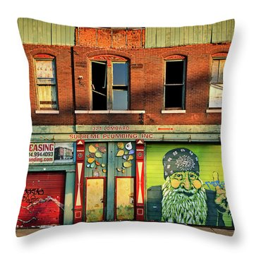 Beardy Mcgreen Throw Pillow