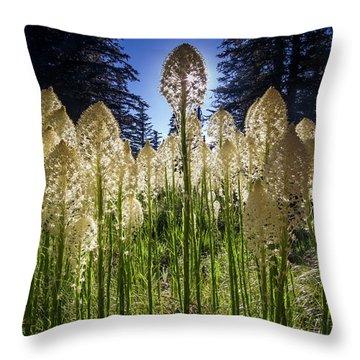 Beargrass In Bloom Throw Pillow