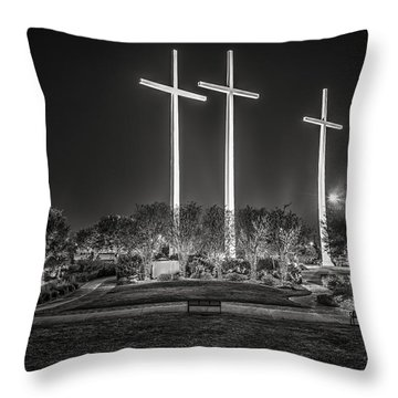 Bearing Witness In Black-and-white 2 Throw Pillow