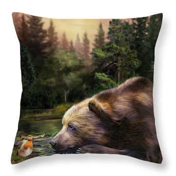 Bear's Eye View Throw Pillow