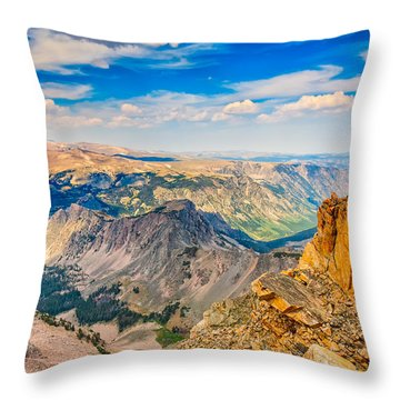Throw Pillow featuring the photograph Beartooth Highway Scenic View by John M Bailey