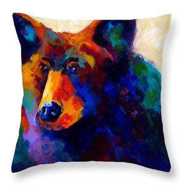 Beary Nice - Black Bear Throw Pillow
