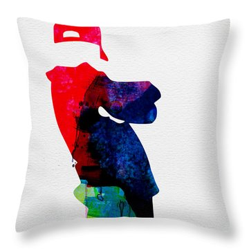 Beasty Watercolor Throw Pillow