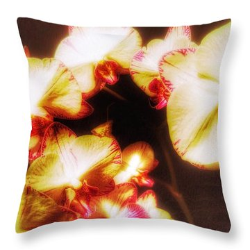 Throw Pillow featuring the photograph Beautiful Orchid by Isabella F Abbie Shores FRSA