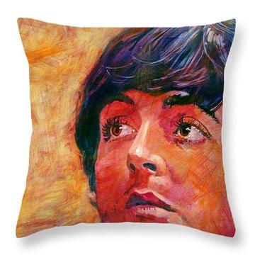 Paul Mccartney Throw Pillows