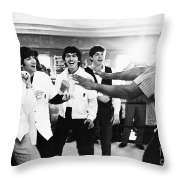 Beatles And Clay, 1964 Throw Pillow by Granger