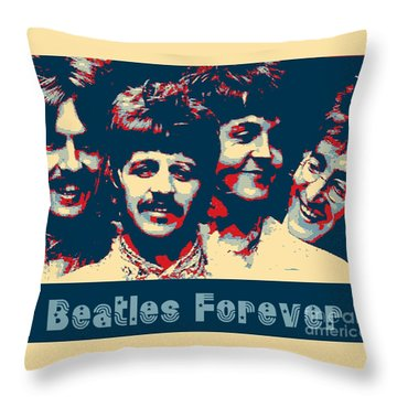 Beatles Forever Throw Pillow