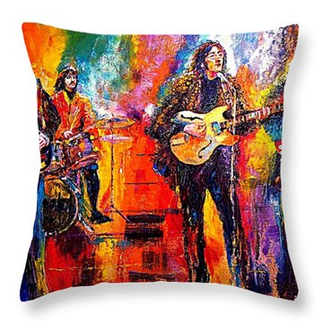 Beatles Last Concert On The Roof Throw Pillow by Leland Castro