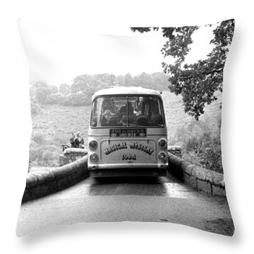 Beatles Magical Mystery Tour Bus Throw Pillow by Chris Walter