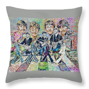 Beatles Tapestry Throw Pillow