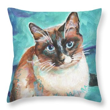 Beau Kitty Throw Pillow