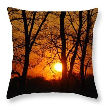Beauatiful Red Sunset Throw Pillow