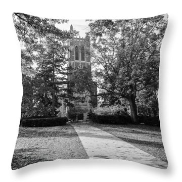 Beaumont Tower Throw Pillow by Larry Carr