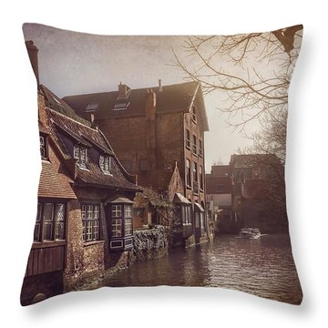 Beauteous Bruges Throw Pillow by Carol Japp