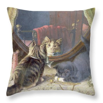 Beauties Toilet Throw Pillow by Horatio Henry Couldery