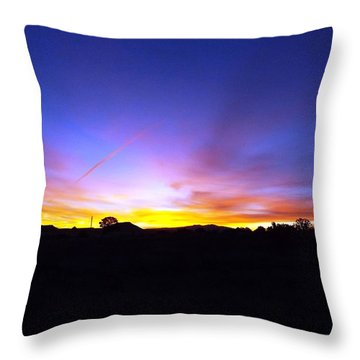 Beautifil Blue Throw Pillow