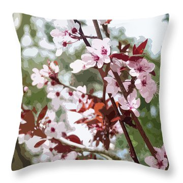 Beautiful Almond Blossoms Throw Pillow