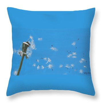 Throw Pillow featuring the painting Beautiful At This Moment.... by Betty-Anne McDonald