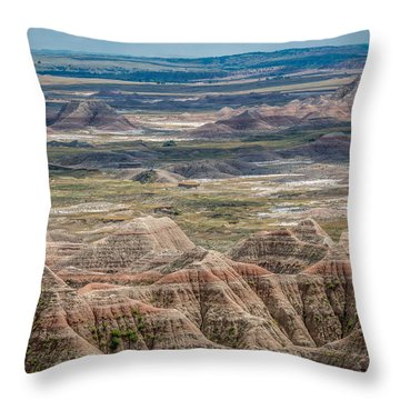 Beautiful Badlands Throw Pillow