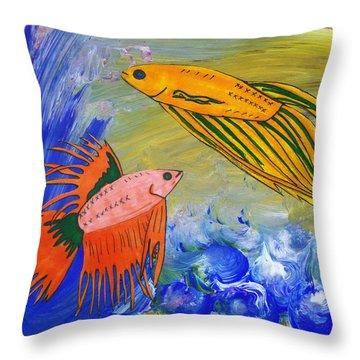 Beautiful Bettas Throw Pillow
