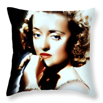 Beautiful Bette Throw Pillow by Wbk