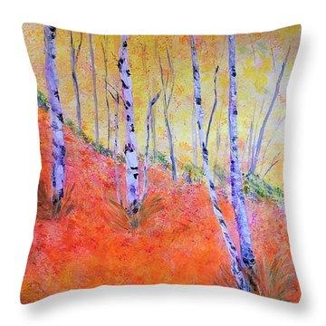 Beautiful Birches Throw Pillow