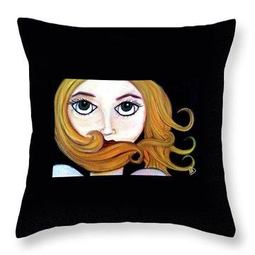 Beautiful Blonde Throw Pillow